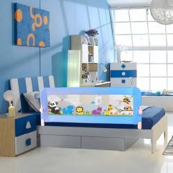 Evokids - Evokids Animals Katlanabilir Çocuk Yatak Bariyeri 140x52 cm - Mavi