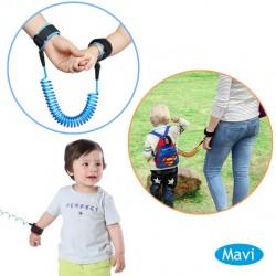 Evokids - Evokids Spiral Kablolu Güvenlik Bilekliği - Mavi (Çelik Uçlu)