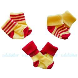 Sebi Baby - Sebi Bebe Üçlü Bebe Çorabı 0-3 Ay