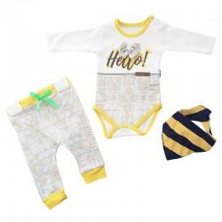 Jikko Baby - Üçlü Fiyonklu Bebek Takımı
