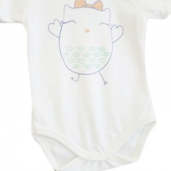 Baby Tongs Kısa Kollu Badi - Turuncu - Thumbnail