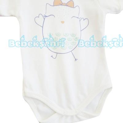 Baby Tongs Kısa Kollu Badi - Turuncu