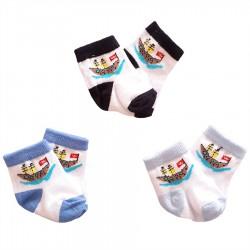 Baby Wear - 3'lü Bebek Çorabı 0-3 Ay