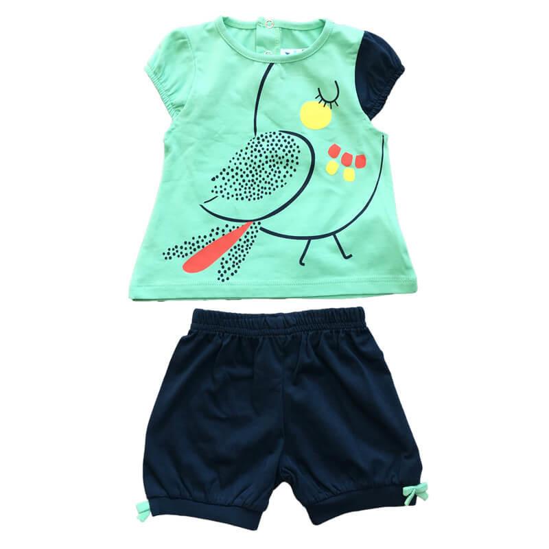 Baby Wear Sevimli Kuş 2 Li Takım Bebek Kıyafetleri Bebek şehri
