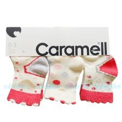 Caramell - Caramell 3'lü Bebek Çorabı ( Nar Çiçeği )
