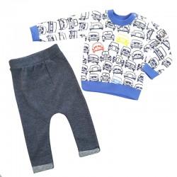 Baby Wear - Erkek Bebek Eşofman Takımı - Mavi