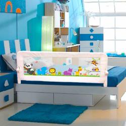Evokids - Evokids Animals Katlanabilir Çocuk Yatak Bariyeri 140x52 cm - Beyaz