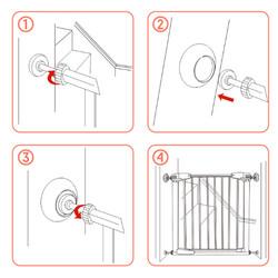 Evokids Güvenlik Kapısı Sabitleme Aparatı (4 Adet) - Thumbnail