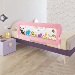 Evokids - Evokids Animals Katlanabilir Çocuk Yatak Bariyeri 140x52 cm - Pembe