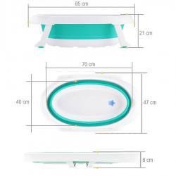 Evokids Oval Katlanabilir Bebek Banyo Küveti + File Hediyeli - Thumbnail
