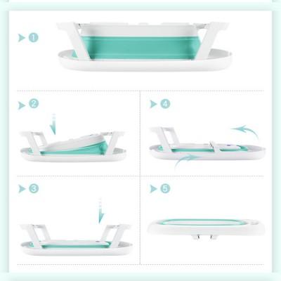 Evokids Oval Katlanabilir Bebek Banyo Küveti + File Hediyeli