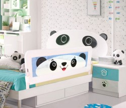 Evokids - Evokids Panda Katlanabilir Çocuk Yatak Bariyeri - 140x52 cm