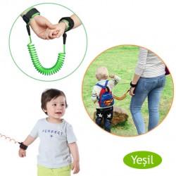 Evokids - Evokids Spiral Kablolu Güvenlik Bilekliği - Yeşil (Çelik Uçlu)