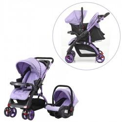 Mom & Kids - Mom & Kids Çift Yönlü Travel Sistem Bebek Arabası - Lila
