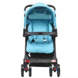 Mom & Kids - Mom & Kids Çift Yönlü Bebek Arabası - Mavi