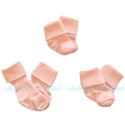 Sebi Baby - Sebi Bebe 3'lü Bebek Çorabı ( Pembe )
