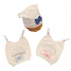 Baby Beret - Taç İşlemeli Bebek Şapkası